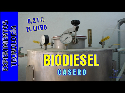 Como hacer Biodiesel a 0 20 euros el litro. Making excellent and cheap biodiesel at home.