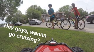 HENRY THE FPV RC CAR likes to race bicycles! (Filmed with Gopro)