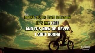 It's My Life in the style of Bon Jovi | Karaoke with Lyrics
