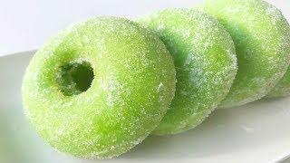 Resepi Donat Pandan | Pandan Donuts / Doughnuts Recipe