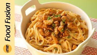 Spaghetti with Tomato Cream Sauce Recipe By Food Fusion