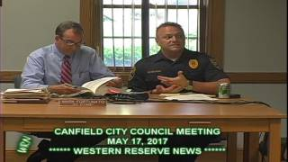 Canfield City Council Police Chief Colucci Says Police Will Wear Gloves and Masks
