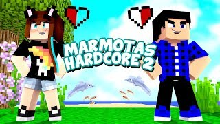 A PRIMEIRA NOITE NO HARDCORE! - Minecraft Marmotas Hardcore 2 #01