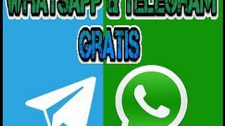 Telegram y Whatsapp Gratis en tecel y movi