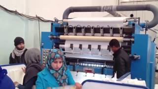 ماكينة تصنيع المناديل الورقية  - خط انتاج المناديل الورقية