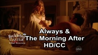 """Castle 4x23 Kiss """"Always""""  Ending End Scene & The Morning After from 5x01(HD/CC/L↔L)"""