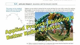 Applied Project: Building a Better Roller Coaster