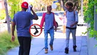 """""""Messing With Big Thugs"""" 😈 (TOP 5) Pranks In The Hood!"""