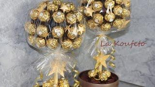 Σοκολατένιο δέντρο Ferrero Rocher Candy Tree DIY