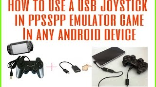 How to use usb joystick in ppsspp or ps2 game in any android device by All in One just for you..HD