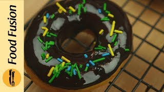 Homemade Chocolate Donuts Recipe | doughnut recipe  By Food Fusion