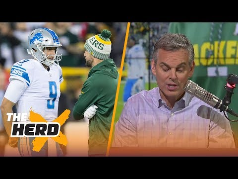 Colin Cowherd on Aaron Rodgers Matthew Stafford after Lions beat Packers on MNF THE HERD