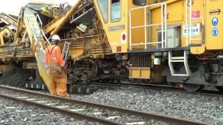 Railway Ballast cleaner Train ETM 567, RM80-750s working @ Mt Albert part 7