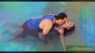 Nusrat Imrose Tisha playing under water