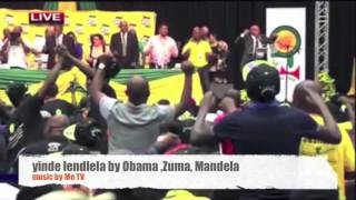 Zuma sings with Obama and Madiba