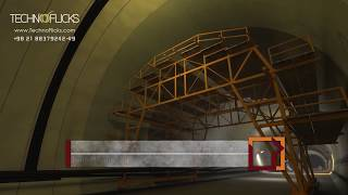 NATM Tunnel Isolation System for Operation Period-Technical Animation