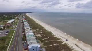 Mexico beach aerial video before Alberto