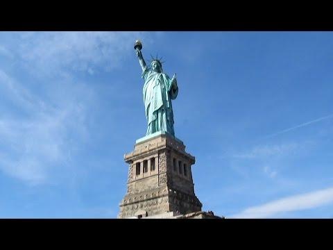 Statue of Liberty and Ellis Island New York USA Статуя Свободы Нью Йорк