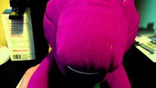 Talking Barney the purple dinosauer