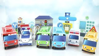 Tayo The Little Bus Puzzle Paper Toy. How to Make Tayo Toy! Stop Motion~ 타요 장난감 만들기 놀이