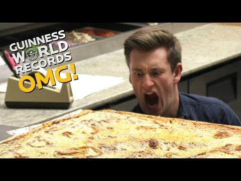 Worlds LARGEST pizza Furious Pete and Food for Louis On The Road Ep16