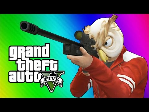 GTA 5 Next Gen Funny Moments Sniper Montage Treehouse Glitches Bank Robbery