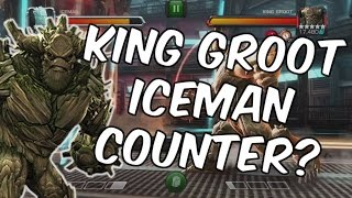 Can King Groot Shrug Off Iceman's Coldsnap? - Marvel Contest of Champions