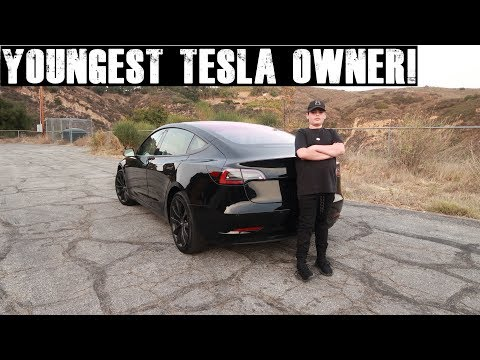 Xxx Mp4 12 Year Old Orders A Tesla Model 3 Takes Delivery At 14 Tesla Model 3 Review 3gp Sex