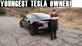 12 year old orders a Tesla Model 3! (Takes delivery at 14) Tesla Model 3 Review