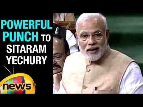 PM Modi Powerful Punch To Sitaram Yechury In Rajya Sabha | Mango News