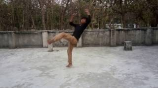 Tutorial how to do 540 kick (bolley kick) in hindi