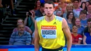 Bohdan Bondarenko - high jump 2.47m WR attempt - London 2013
