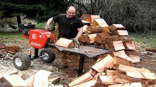 EXTREME Fastest Modern Firewood Processing Machine, Amazing Homemade Log Splitter Wood Processor