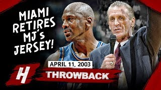 Miami Heat Retires MJ