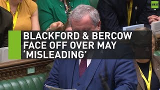 Blackford & Bercow face off over May