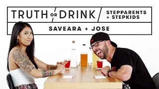Stepparents & Stepkids Play Truth or Drink (Saveara & Jose)   Truth or Drink   Cut