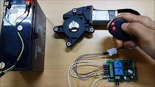 2-CH RF Wireless RC Relay Module: DC Motor Forward/Reverse Direction Control