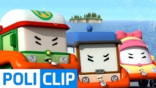 How to survive in the sea   Robocar POLI Clips