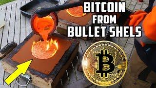 Casting Brass Bitcoin from Bullet Shells