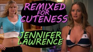 Jennifer Lawrence at Age 17 in a bikini | Remixed for Cuteness