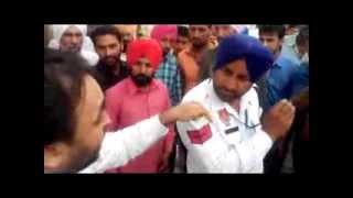 Traffic Hawaldar Caught Red Handed by MP. Bhagwant Mann