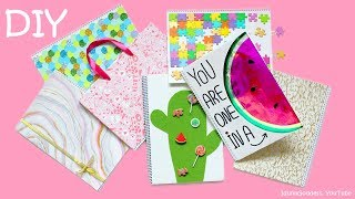7 DIY Notebooks – How To Make Mermaid, Watermelon, Marble, Cactus And More Notebooks