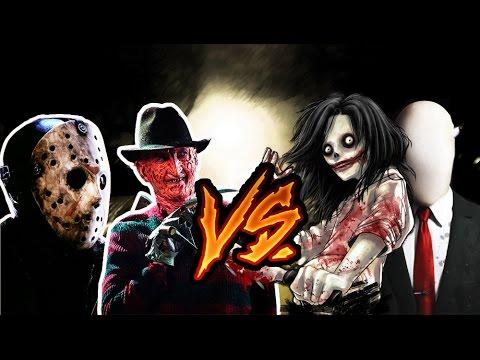 Freddy Jason  Slenderman y Jeff the killer (Tramzeta, AdriRosan, Shado)