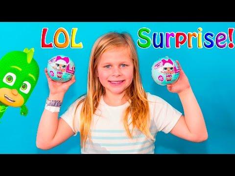 LIL OUTRAGEOUS LITTLES Surprise LIL Surprise Dolls with PJ Masks and Surprise Bags Toys Video
