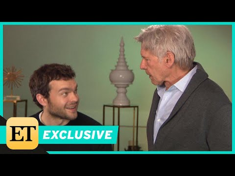 Xxx Mp4 Watch Harrison Ford Surprise Young Han Solo Alden Ehrenreich During ET Interview Exclusive 3gp Sex