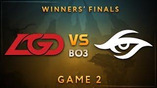 LGD Gaming vs Team Secret Game 2 - Dota Summit 7: Winners' Finals