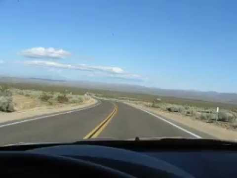 Driving through Kern River Valley in a Chrysler 300