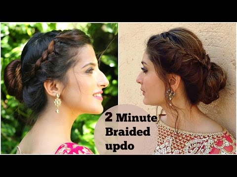 Xxx Mp4 2 Minute Easy BRAIDED Bun Hairstyle For Diwali Kareena Kapoor Easy Updo Indian Hairstyles 3gp Sex