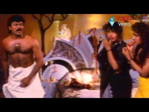 Chiranjeevi first night with Aunty Lakshmi, Ramya krishna & Ramba..confused Giri babu.
