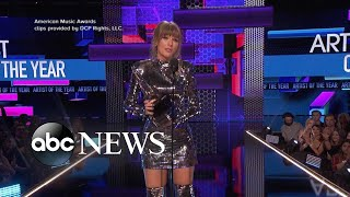 Inside Taylor Swift's record-breaking night at the AMAs
